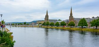 Inverness, Scotland River Ness and Old High Church Royalty Free Stock Photography