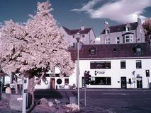 Inverness Scotland Street IR filter Royalty Free Stock Images
