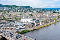 Inverness, Scotland, United Kingdom from above Royalty Free Stock Photos