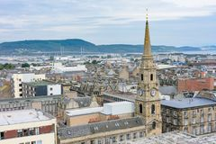 Inverness, Scotland, United Kingdom from above Stock Images