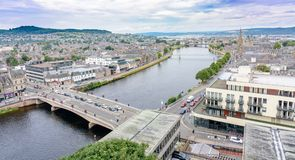 Inverness, Scotland, United Kingdom from above Stock Image