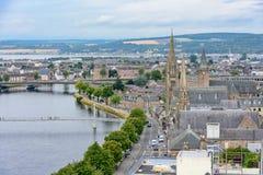 Inverness Skottland, Förenade kungariket från över Arkivbild