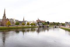 Inverness-Stadtzentrum Lizenzfreie Stockbilder