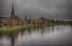 Inverness vóór onweersbui Stock Foto's