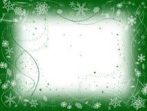 Inverno 1 no verde Fotos de Stock Royalty Free