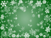 Inverno 2 no verde Fotografia de Stock Royalty Free