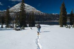 Inverno adiantado em montanhas de Uinta - lago longo Fotos de Stock