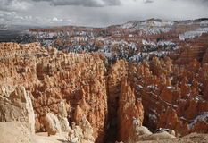 Inverno al canyon di Bryce Immagini Stock Libere da Diritti