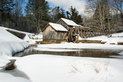 Inverno al mulino di Mabry Fotografia Stock Libera da Diritti
