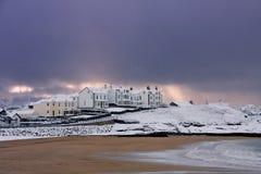 Inverno alla baia di Trearddur Fotografia Stock