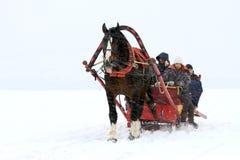 Inverno alla Russia Fotografia Stock