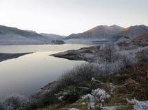 Inverno alla valletta Garry, Scozia Immagine Stock