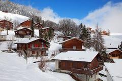 Inverno in alpi Fotografia Stock