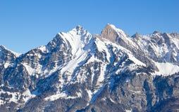 Inverno in alpi Fotografie Stock