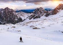 Inverno in alpi bavaresi Fotografia Stock Libera da Diritti