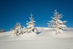 Inverno in alpi francesi Fotografie Stock