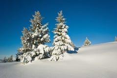 Inverno in alpi francesi Fotografie Stock Libere da Diritti