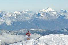 Inverno in alpi francesi Fotografia Stock Libera da Diritti