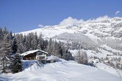 Inverno in alpi svizzere. Fotografie Stock