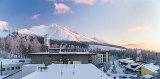Inverno in alto Tatras Immagine Stock