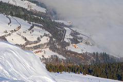 Inverno in Austria Fotografie Stock Libere da Diritti