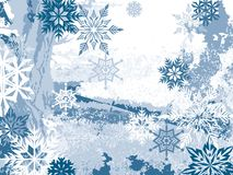 Inverno azul Fotos de Stock Royalty Free
