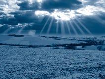 Inverno azul cénico imagens de stock