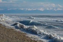 Inverno Baikal E r fotografia de stock