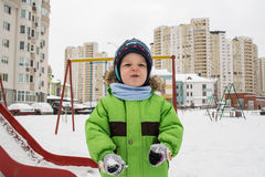 Inverno, bambino Immagini Stock
