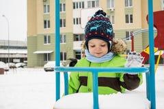 Inverno, bambino Fotografie Stock