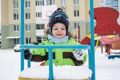 Inverno, bambino Fotografie Stock Libere da Diritti