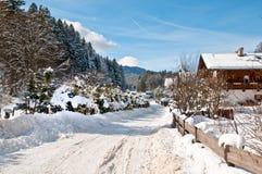 Inverno bavarese Immagini Stock