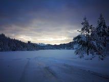Inverno blu del lago fotografie stock libere da diritti