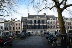 inverno-céu sobre De Zaanse Schans na Holanda Foto de Stock