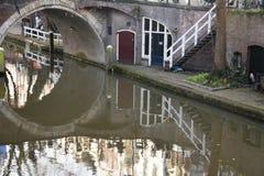 inverno-céu sobre De Zaanse Schans na Holanda Fotos de Stock
