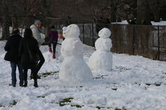 Inverno in Central Park Immagine Stock