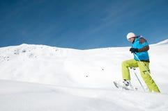 Inverno che trekking Fotografie Stock