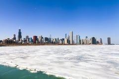 Inverno in Chicago fotografie stock libere da diritti