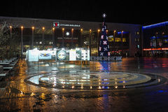 inverno chuvoso em Riga Imagem de Stock