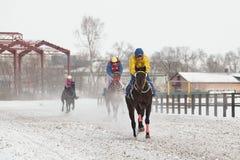 Inverno Corse sulla pista immagini stock libere da diritti