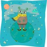 Inverno cosmico illustrazione di stock