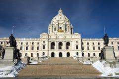 Inverno, costruzione del capitale dello Stato, Saint Paul, Minnesota, U.S.A. immagini stock libere da diritti