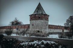 Inverno Cremlino di Zarajsk Fotografia Stock
