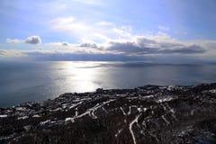 Inverno in Crimea Immagine Stock