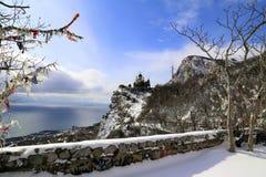 Inverno in Crimea immagine stock libera da diritti