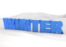 inverno - 3D ilustração stock