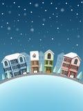 inverno da arquitetura da cidade Fotografia de Stock