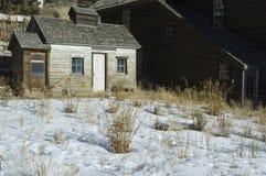 Inverno da cabine dos mineiros Fotos de Stock Royalty Free