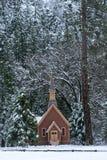 inverno da capela de Yosemite Fotos de Stock