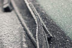 inverno da geada do carro Fotos de Stock
